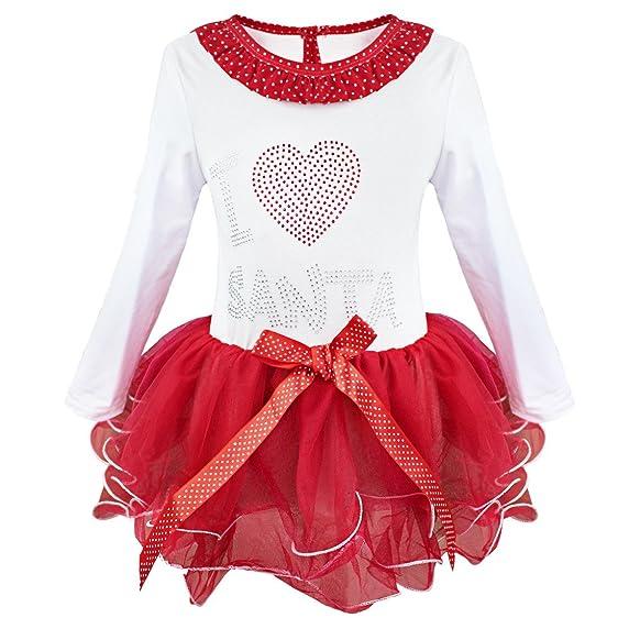 iEFiEL iEFiEL Baby Mädchen Weihnachten Kleid Weihnachtskostüm Baby ...