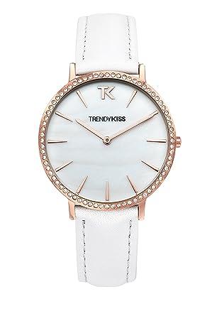 d4276c77f9 Trendy Kiss Femme Date Standard Quartz Montre avec Bracelet en Cuir  TG10090-01W