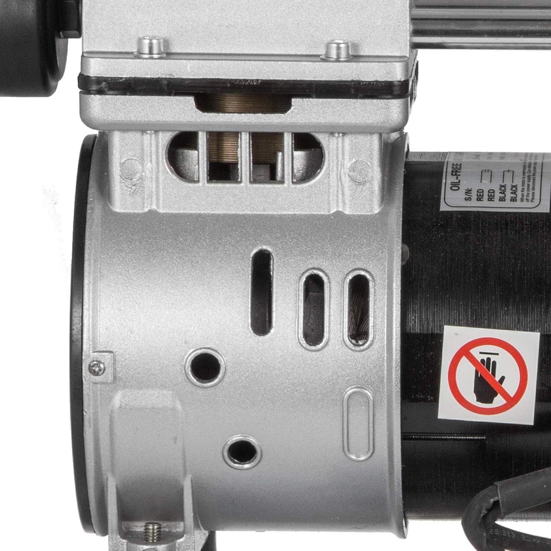 Olibelle Compresseur dAir Ultra Silencieux sans Huile Compresseur dAir Silencieux de R/éservoir de 25L Compresseur sans Huile de 750W Faible Bruit 25L