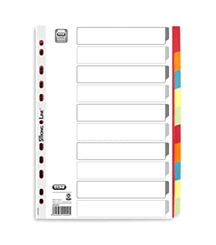 10-teilig DIN A4; Register Elba; #Register# 400004810 Register myColour für