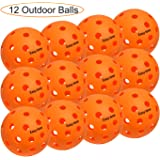 EasyTime Outdoor and Indoor Pickleball Balls, Specifically Optimized Design Pickleball Balls, Flight Trajectory is…