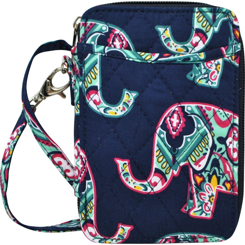 Elephant Print NGIL Quilted Wristlet Wallet