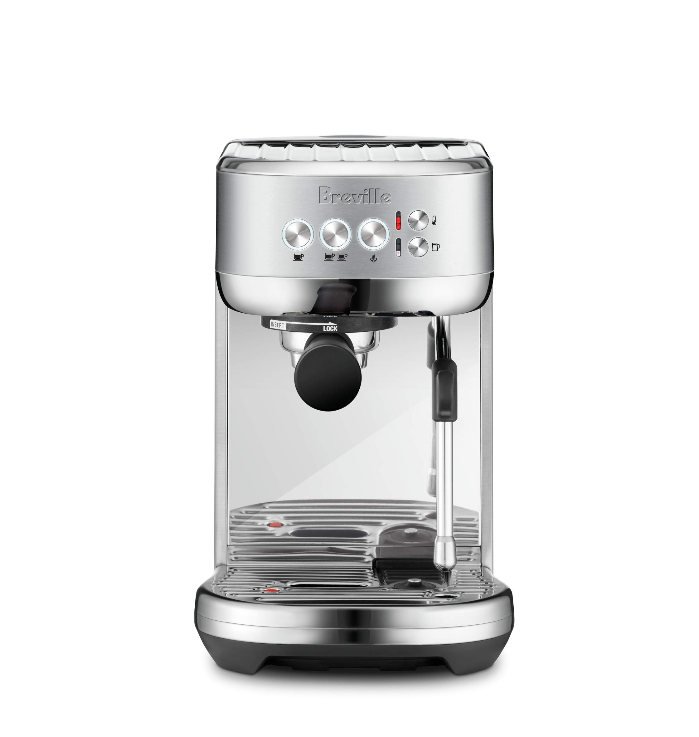 Breville BES500BSS Bambino Plus Espresso Machine, Brushed Stainless Steel by Breville