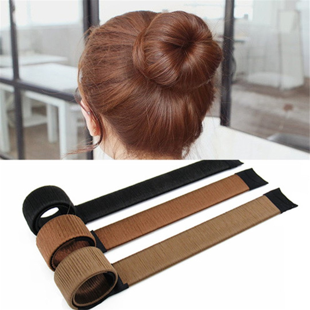 DIY Women Hair Accessory Ladies Foam Hair Band Wrap Styling Tool light brown by HAHUHERT (Image #3)