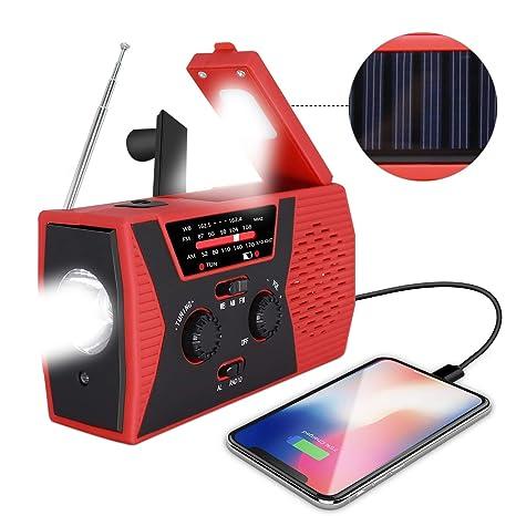 AI LIFE Radio de manivela Solar de Emergencia Radio del ...