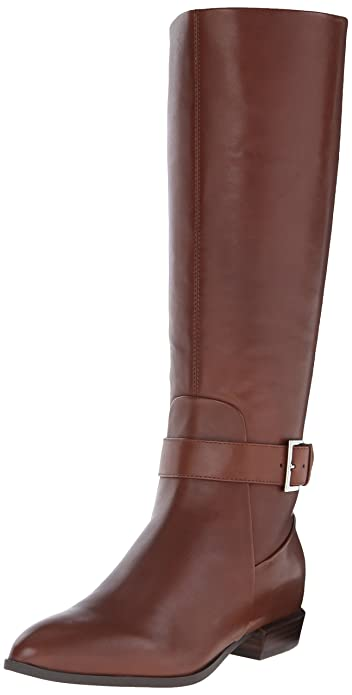 Amazon.com | Nine West Women's Diablo Leather Knee-High Boot ...