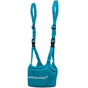 UpSpring Baby Walking Wings Learn to Walk Assistant, Blue, Handheld Baby Walker Harness for Babies and Toddlers