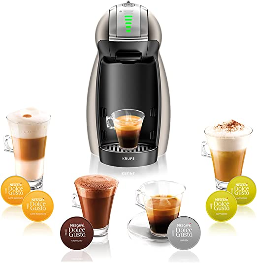 Krups Nescafe Dolce Gusto Genio 2 Kp160T Cafetera De Capsulas, 1 Litro, Titanium: Amazon.es: Hogar