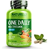 NATURELO One Daily Multivitamin for Men - with Whole Food Vitamins, Organic Extracts - Natural Supplement - Best for Energy, General Health - Non - GMO 120 capsules