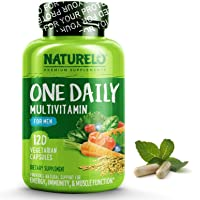 NATURELO One Daily Multivitamin for Men - with Whole Food Vitamins, Organic Extracts...