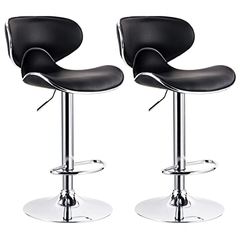 413aaab790e Amazon.com  Twilight Contemporary Black Bar Stools Adjustable ...