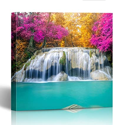 amazon com emvency painting canvas print square 12x12 inches green