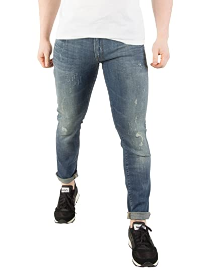 af0c22b6f78c G-Star Men's 3301 Deconstructed Super Slim Jeans, Blue at Amazon Men's  Clothing store: