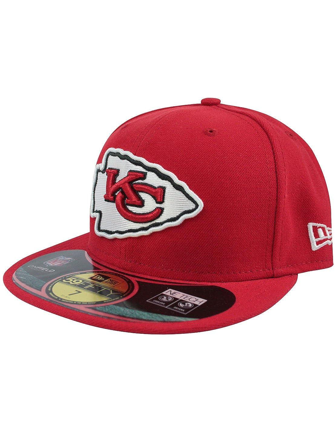 20ea1edec43 Amazon.com  New Era 59Fifty NFL Kansas City Chiefs Cap  Clothing
