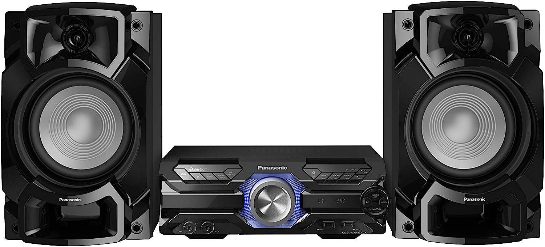 Panasonic SC-AKX320 - Equipo de Sonido de Alta Potencia para el hogar (450W, 16 cm Woofer, 6 cm Tweeter, Bluetooth, USB Dual, CD, AUX, DJ Jukebox, Función DJ, Hi-Fi, Sonido Nítido) Color Negro