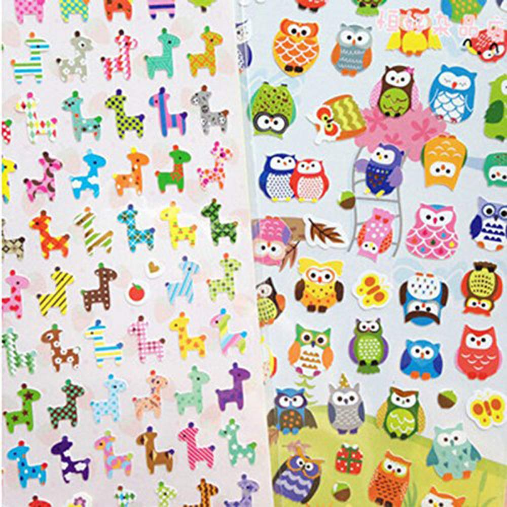 Xeminor Stockton Sticker Cute Drawing Market Transparent Diary Scrapbooking Calendar Album Deco Sticker 2Pcs / Lot