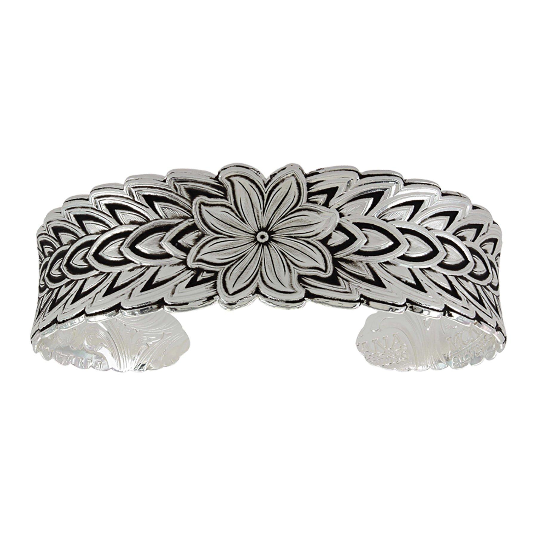 Montana Silversmiths Mosaic Flower Cuff Bracelet by Montana Silversmiths (Image #1)