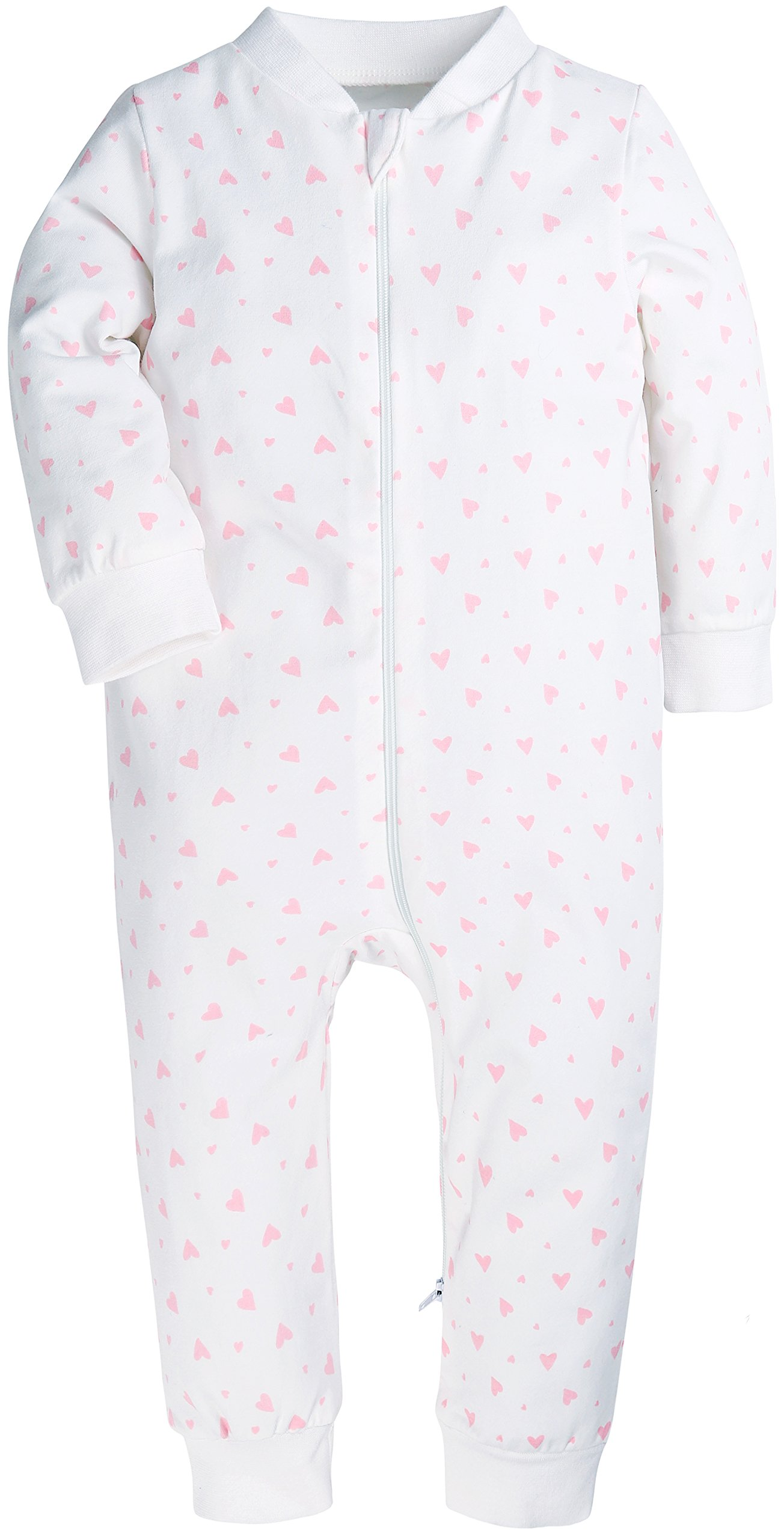 09df4a169448 Baby Boys and Girls Romper Onesies Footless Baby Jumpsuits Zipper up ...
