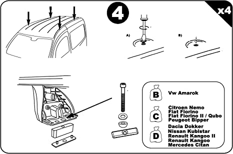Aurilis Portapacchi originale Renault Kangoo I 1998/ /2007 3//–/5/porte