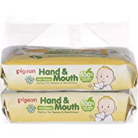 Pigeon Hand And Mouth Wet Tissues, 60ct (Pack of 2) (Packaging May Vary)