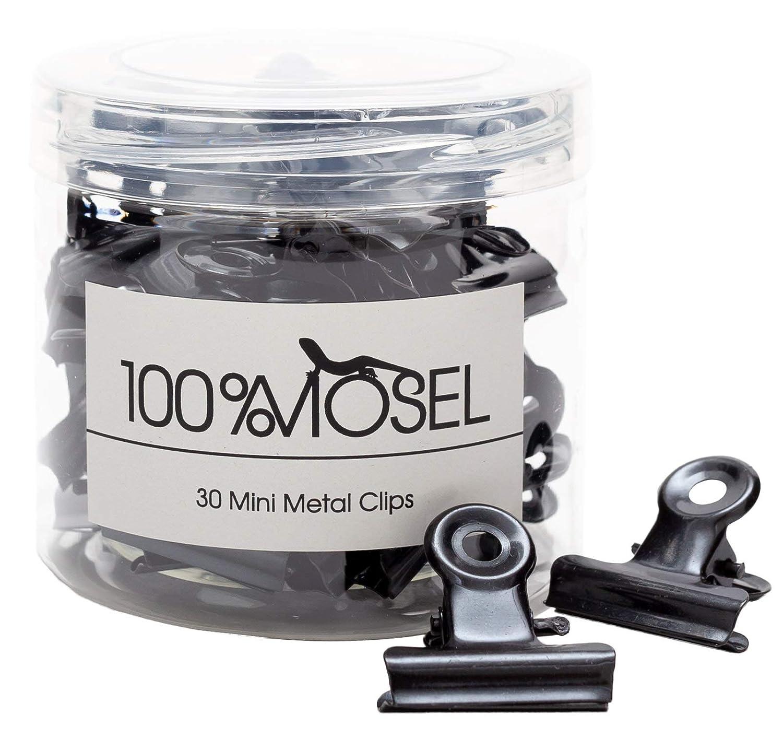 20 mm 30 pezzi clip di design Bulldog per ufficio e casa Nero clip di carta Mini mollette in metallo morsetti di carta