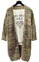 ARJOSA Women's Cable Knit Pockets Long Sleeve Open Front Cardigan Casual Sweater