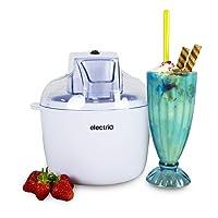 electriQ Ice Cream Maker Machine 1.8L - Makes Sorbet and Frozen Yoghurt Machine - White