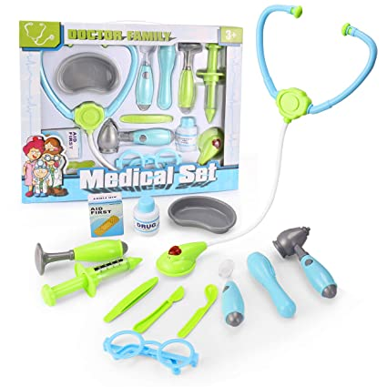 dc0179d58 Vandora Durable Kids Doctor Kit with Electronic Stethoscope and 12 Medical  Doctor's Equipment, Packed in