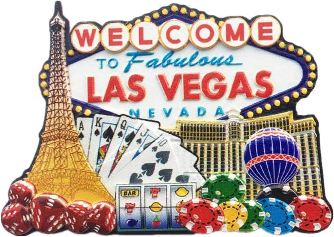 Las Vegas Sights //Flaggen //Neu// USA Souvenir Neuheit Kühlschrank-magnet