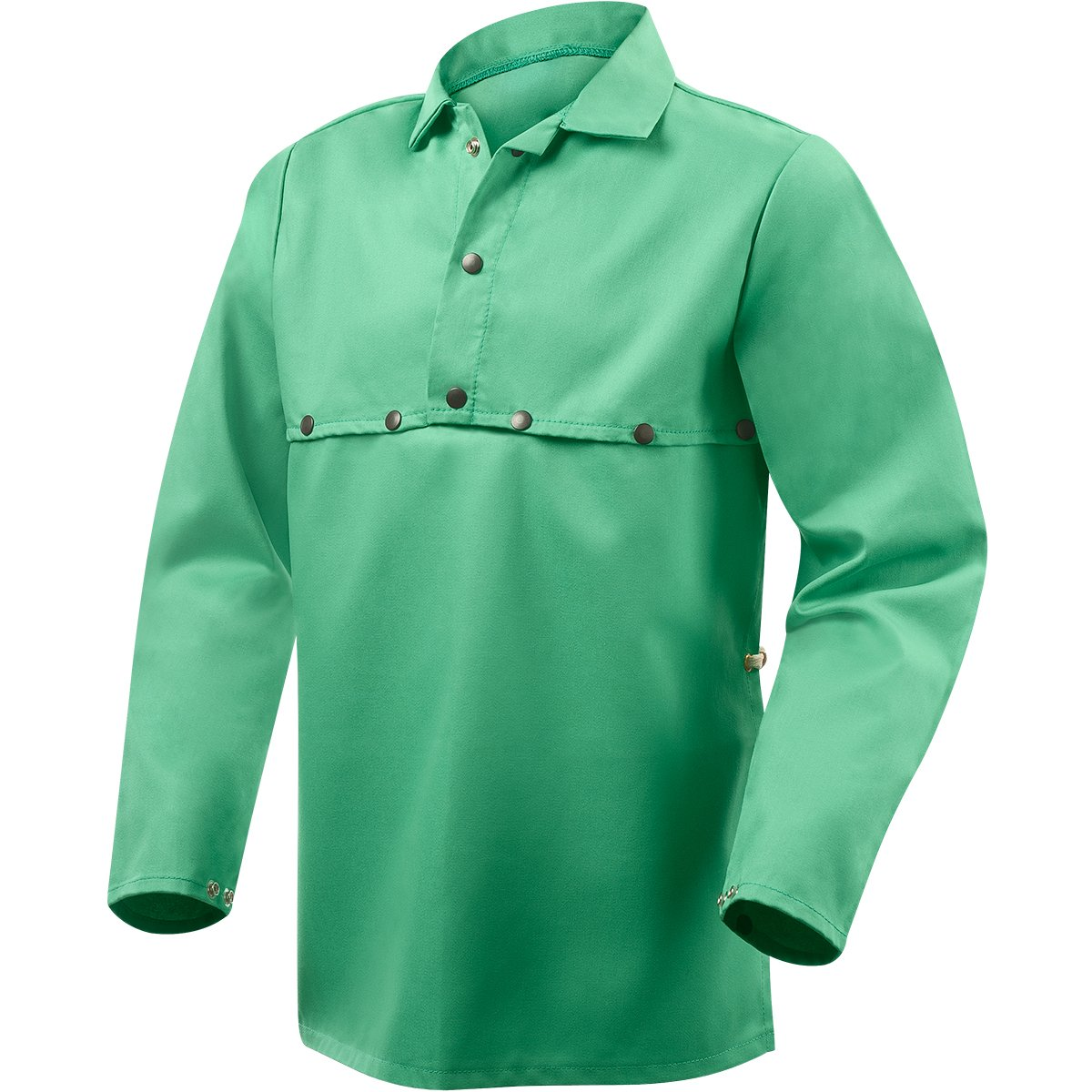 Steiner 1033-L Cape Sleeve With 19-Inch Bib, Weldlite Green 9.5-Ounce Flame Retardant Cotton, Large