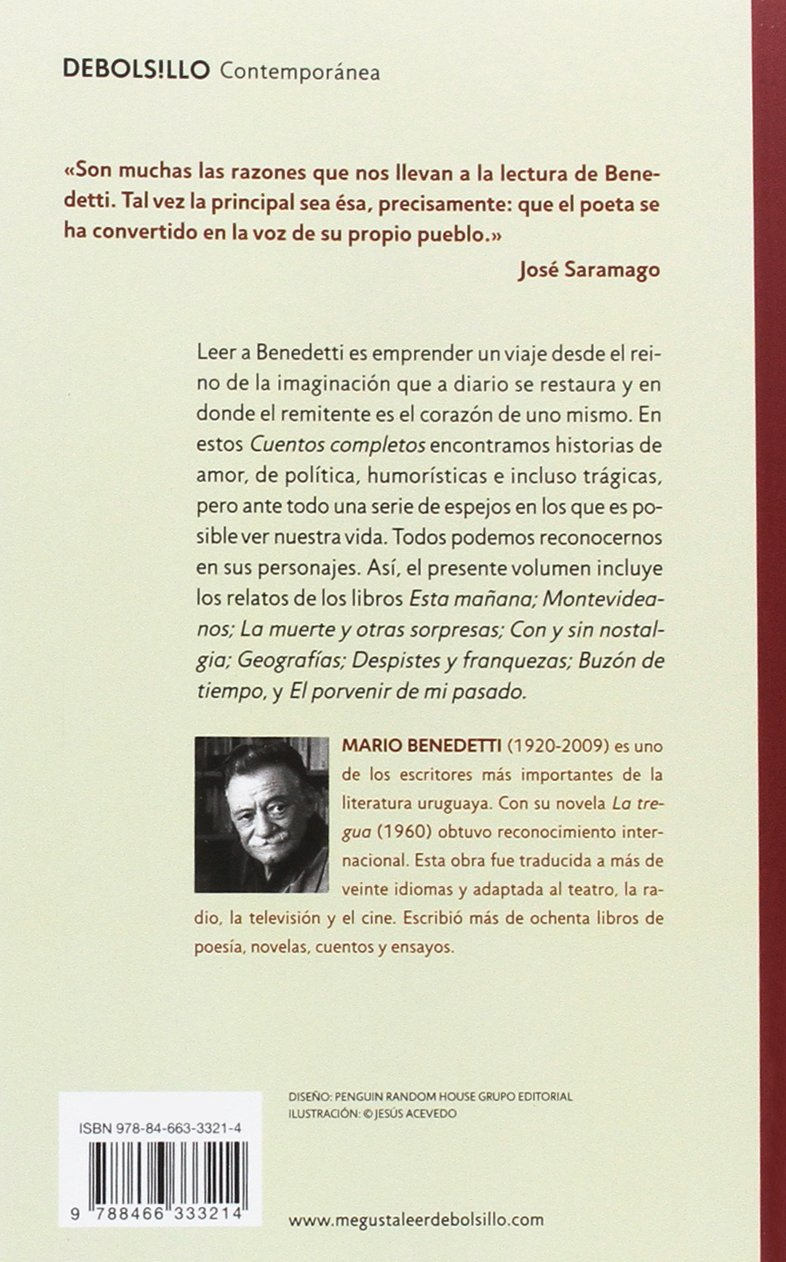 Benedetti M Cuentos Completos Contemporánea Benedetti Mario Amazon De Bücher
