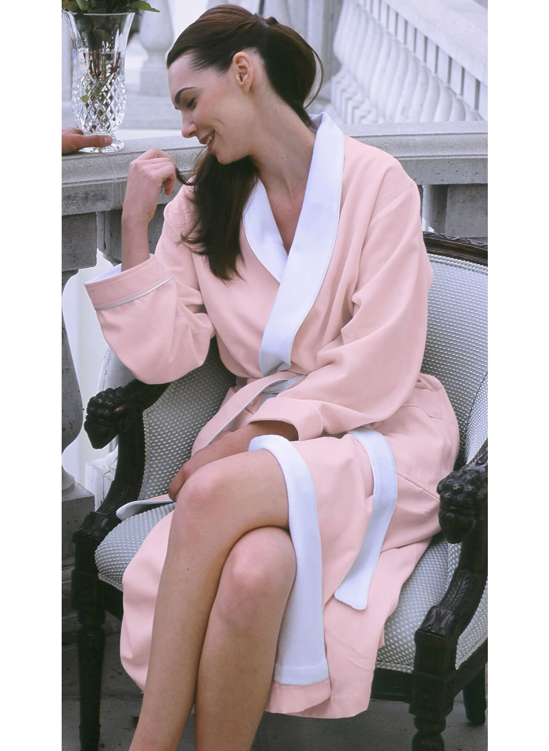 Luxury Spa Robe - Microfiber with Cotton Terry Lining, Pink, XXX-Large by Plush Necessities (Image #8)