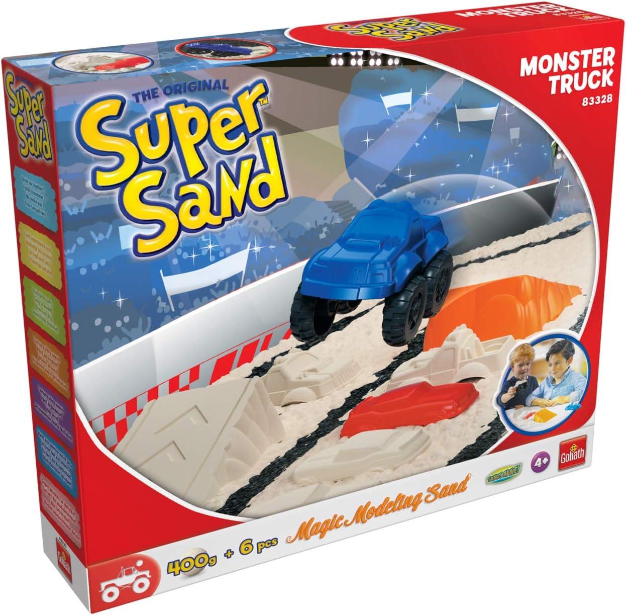 Super Sand-Goliath-Camión de Monstruos Castillos de Arena en la habitación Infantil, Recomendado a Partir de 4 años, Color Blanco 83328: Amazon.es: Juguetes y juegos