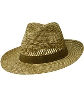 EveryHead Fiebig Paglietta Con Fascia A Costine Cappello Di Paglia Da Uomo  Uomini Estate Coneflower Spiaggia f31749ef98dd