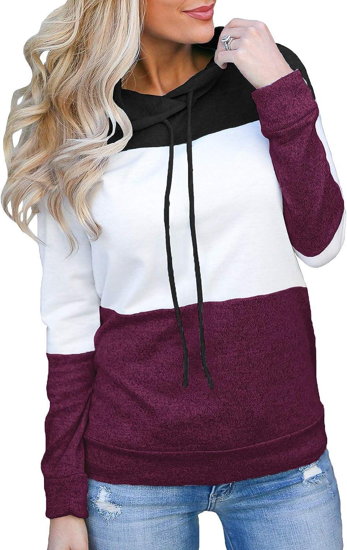 Women Hoodies,Ladies Color Block Patchwork Top Sweatshirt,2019 New Long Sleeve Loose Casual Pullover Chaofanjiancai