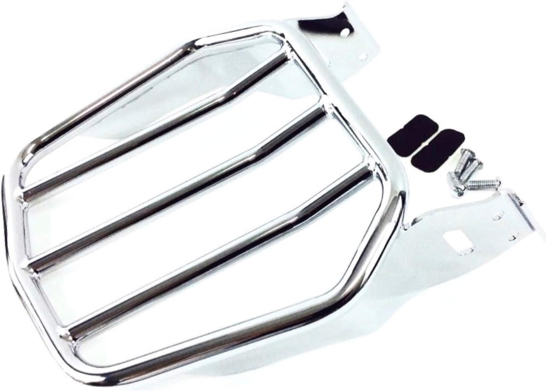 Chrome 2-UP Four Bar Luggage Rack For Harley Sportster XL883 Detachable Sissybar