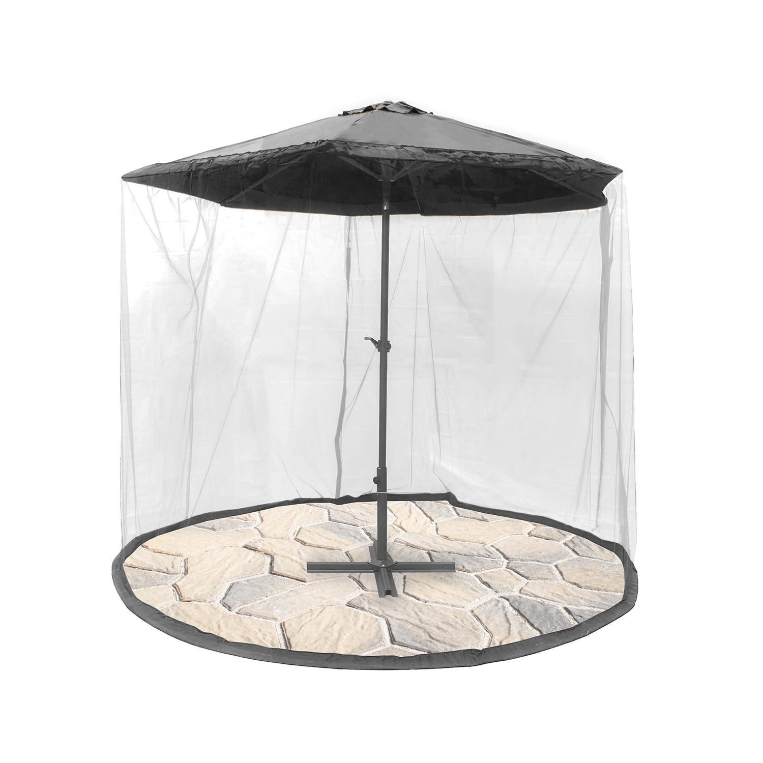 Gardensity ® Parasol Converter Cover Turn Your Parasol into a Gazebo! Easy Assembly Easy Fold Garden Outdoor Parasol side netting (Parasol converter ONLY)