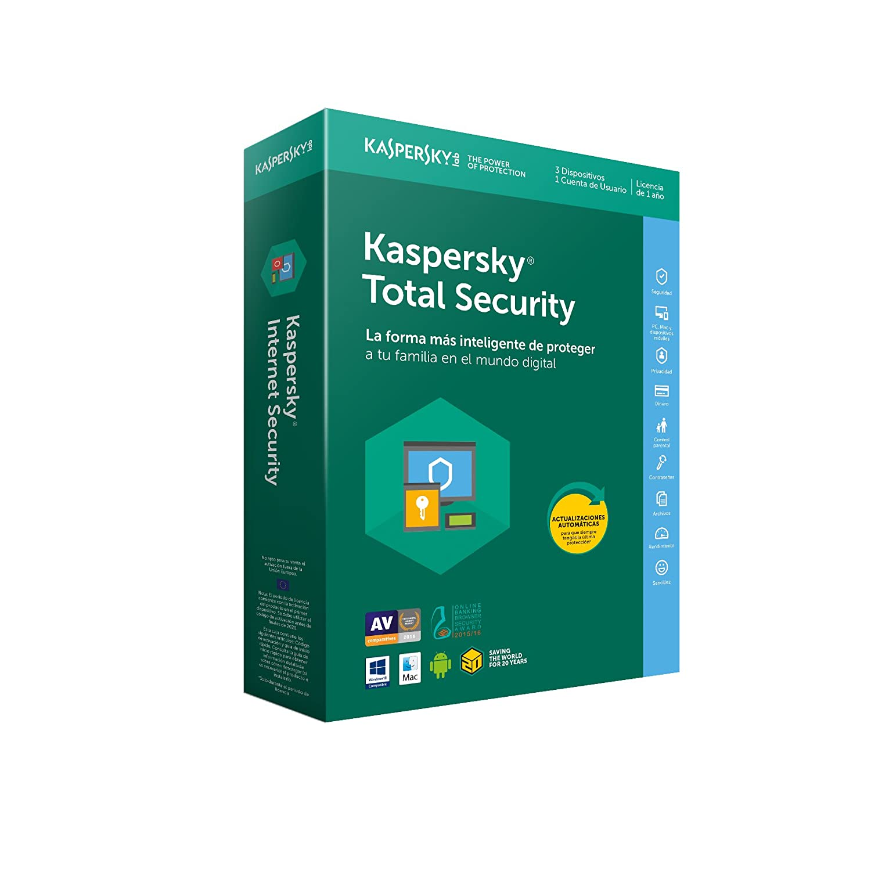 Kaspersky Lab - Antivirus Kaspersky Total Security 2018, 5 Dispositivos 5060486854158