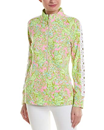 671d2e7d9cc Lilly Pulitzer Women s Skipper Popover w Lace Pelican Pink Pop-Up Chimply  Chic X
