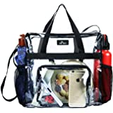 Maytreebags Clear Tote Bag Stadium Approved,Transparent Tote Bag Stadium Security Travel and Gym Clear Bag, See Through Tote Bag for Work, Sports Games and Concerts-12 x12 x6