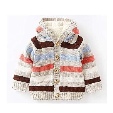8926710a1 Amazon.com  Autumn Winter Boys Girls Knitted Sweater Children Hooded ...