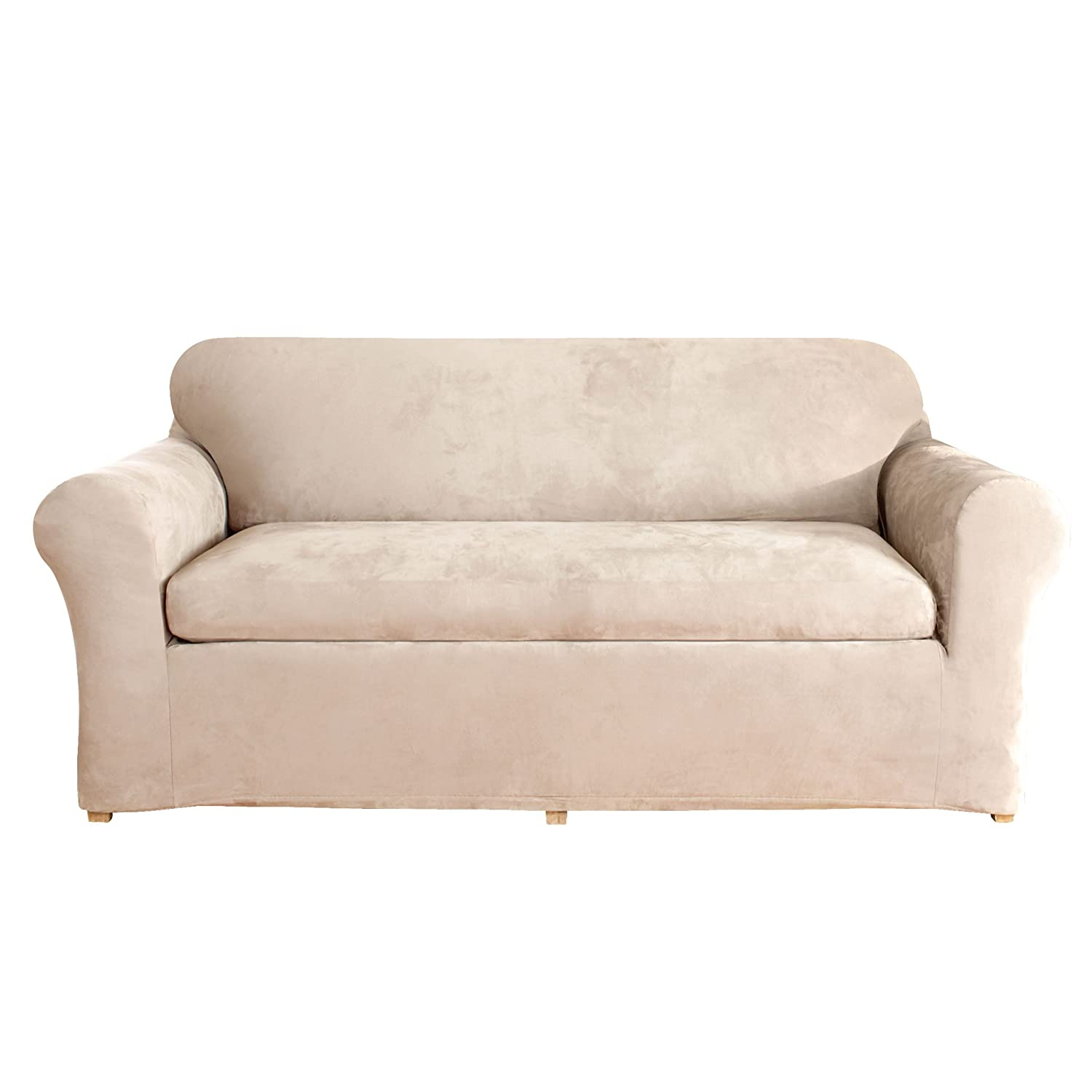 Amazon Sure Fit Stretch Suede Sofa Slipcover Taupe