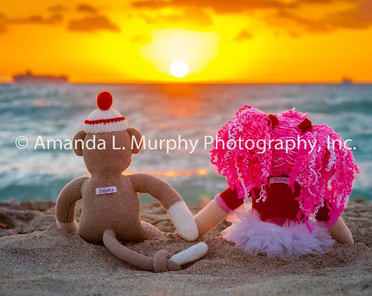 Sock Monkey Wall Art - ''Summer of Love'' Photograph for Nursery, Kids room, Playroom, Whimsical art, Art for children of all ages, great for baby shower gifts!