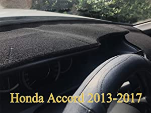 Yiz Dashboard Cover Dash Cover Mat Pad Carpet Custom Fit for Honda Accord 2013 2014 2015 2016 2017 (Black) Z15