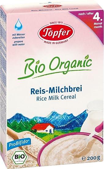 Töpfer Orgánica leche de arroz 200 g de cereales