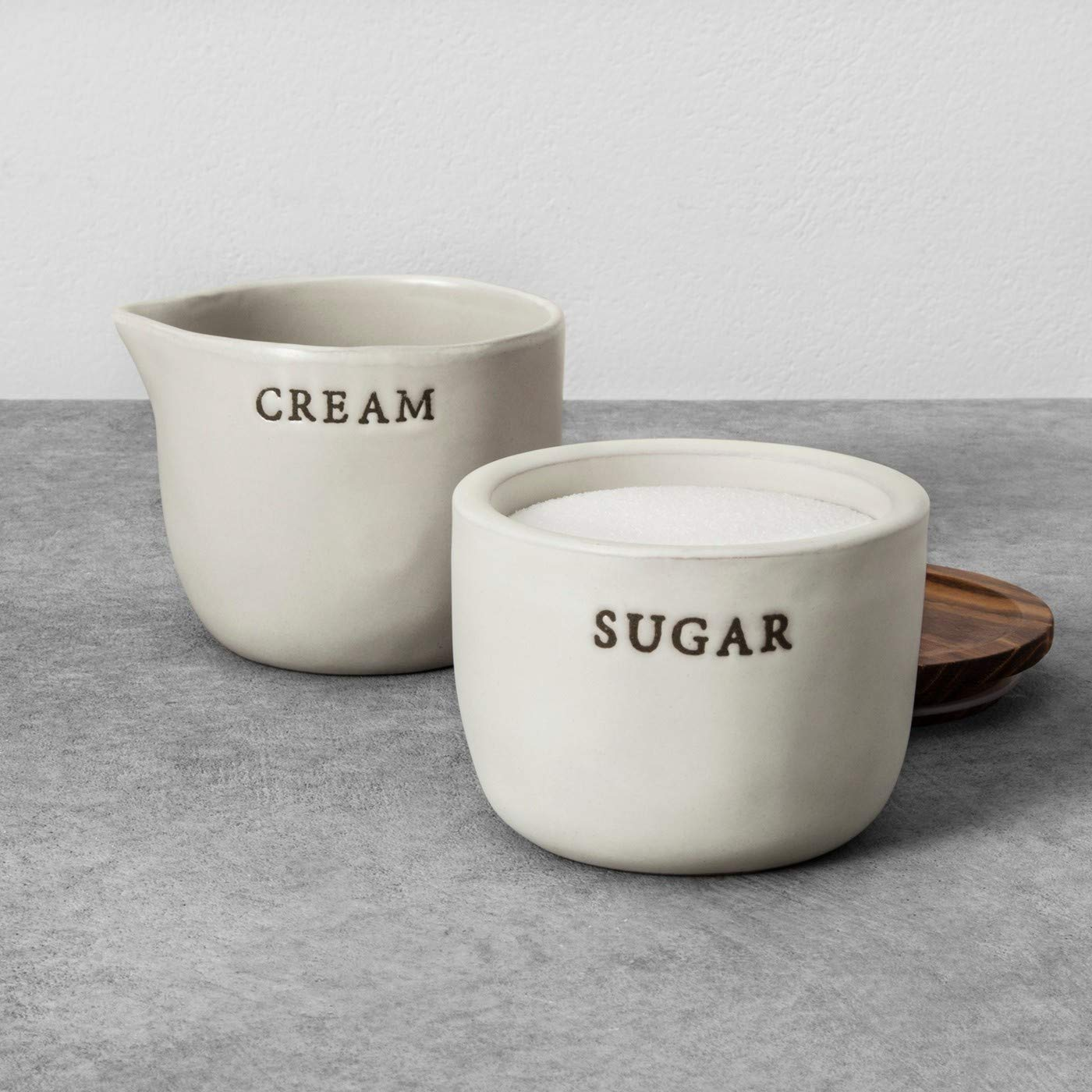 Hearth and Hand with Magnolia Stoneware Cream Cellar And Sugar Bowl Joanna Gaines Limited Edition by Hearth & and Hand with Magnolia (Image #1)