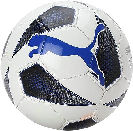 PUMA El balón de fútbol Mide 5 Blanco y Azul 082917-02: Amazon.es ...