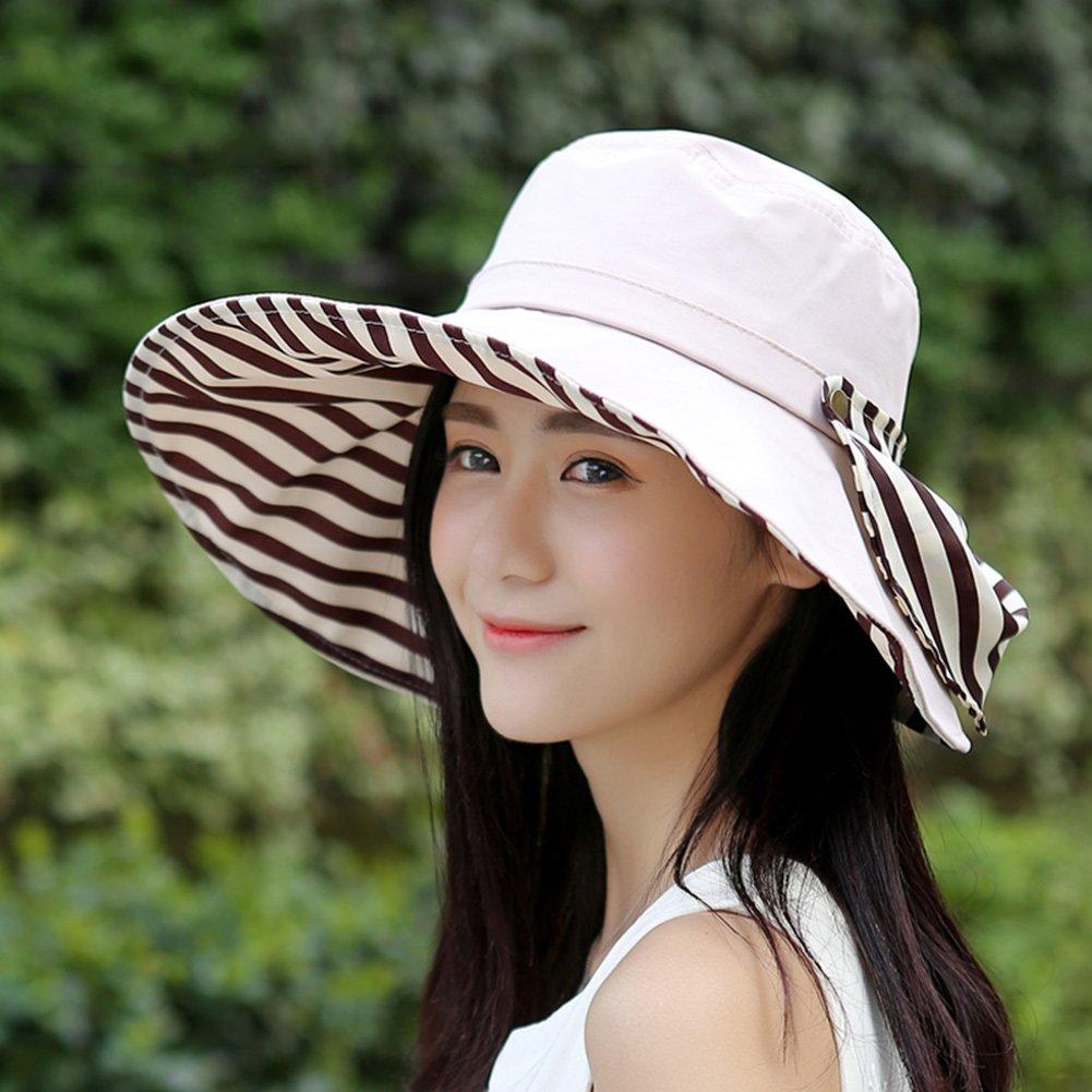 WENZHE Verano Gorros para el sol Pamelas Sombrero De Playa Mujer Sweatband Protector  Solar Transpirabilidad Todo-partido Comodidad c42d93d02d8