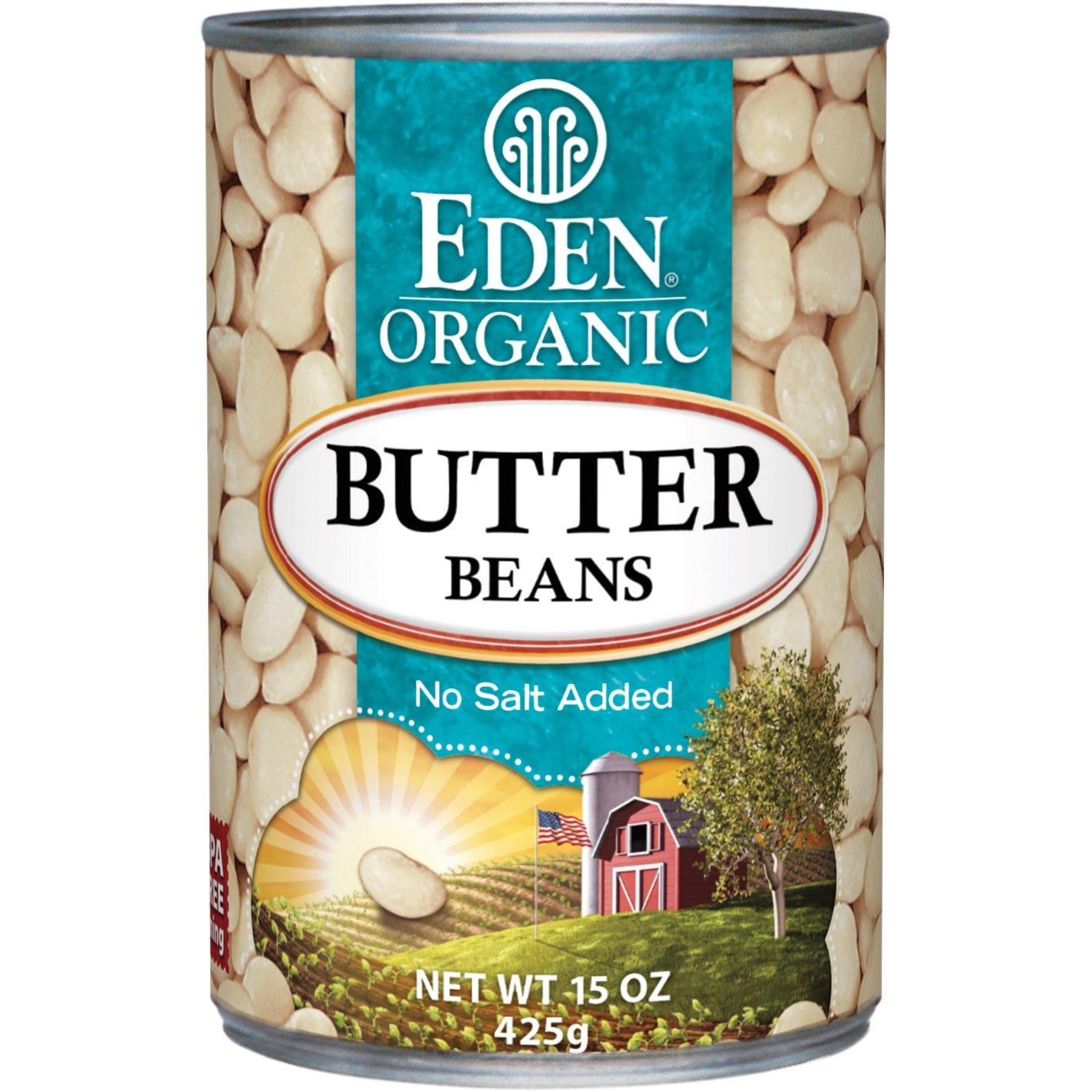 Eden Foods Organic Butter Bean, 15 Ounce - 12 per case. by Eden
