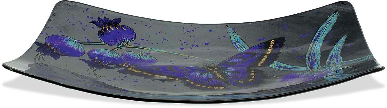 Midnight Butterfly Multicolored AngelStar 16 Rectangular Plate